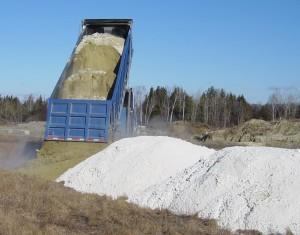 truck dumping residuals